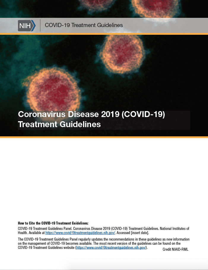 NIH COVID-19 TREATMENTS GUIDELINES